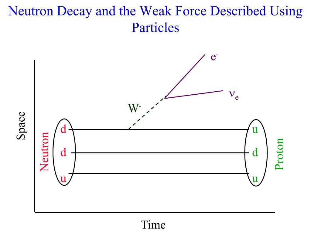 Neutron Decay and the Weak Force Described Using Particles