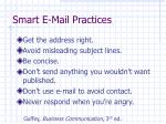 smart e mail practices