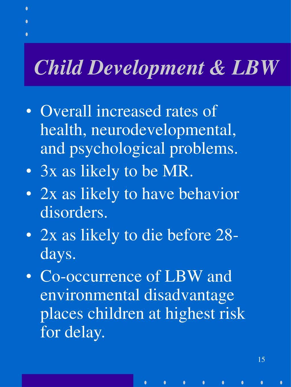 Child Development & LBW