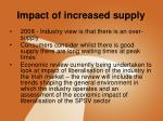 impact of increased supply