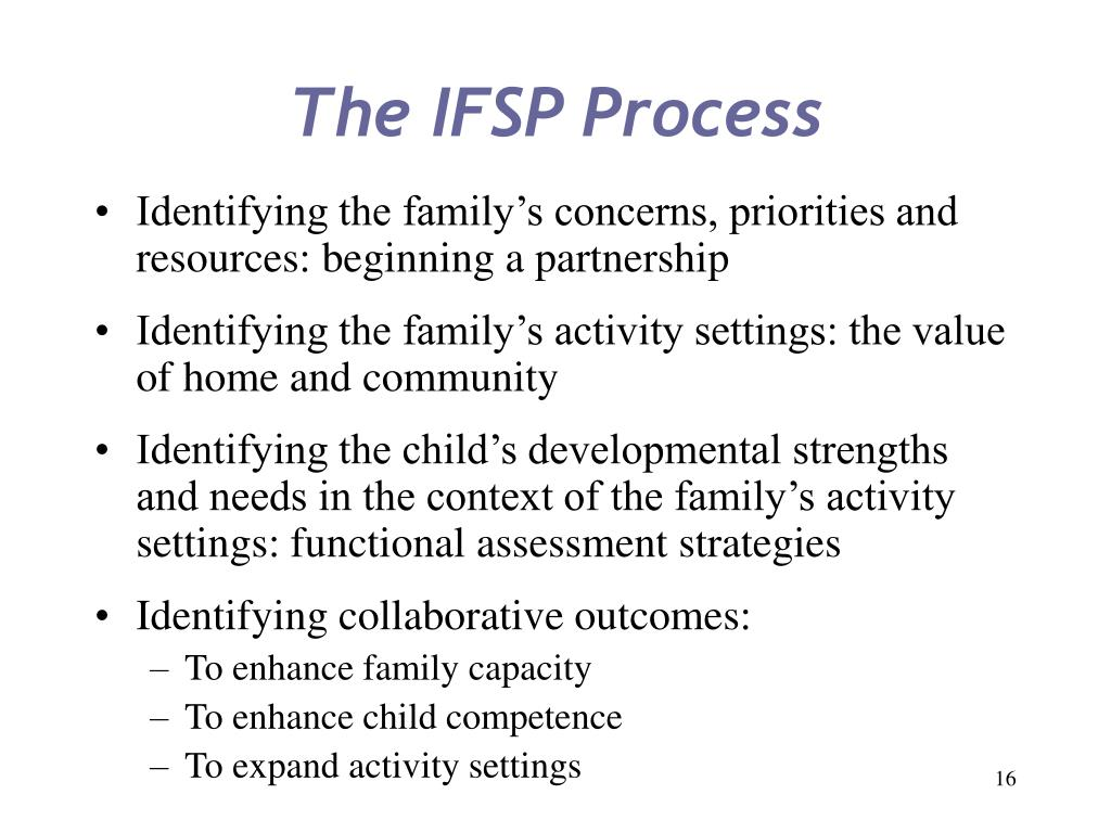 The IFSP Process