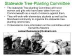 statewide tree planting committee