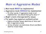 main vs aggressive modes