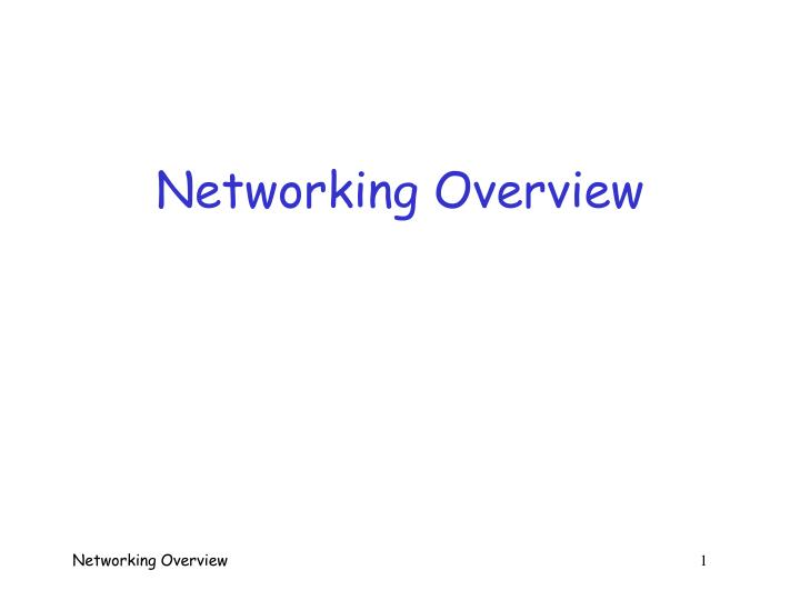 networking overview n.