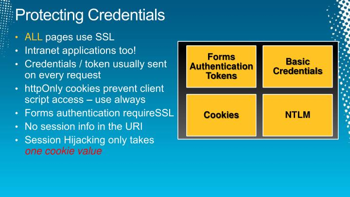 Protecting Credentials
