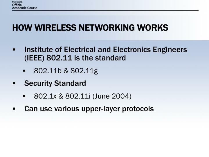 How wireless networking works