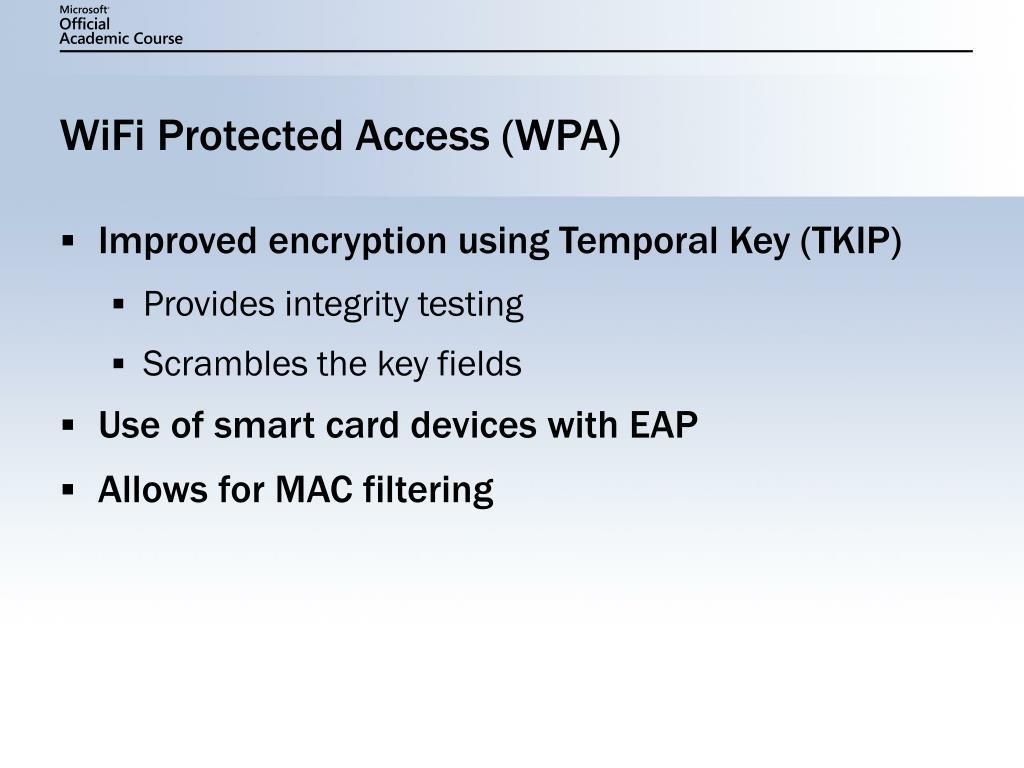 WiFi Protected Access (WPA)