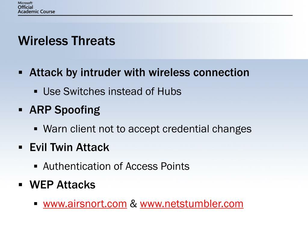 Wireless Threats