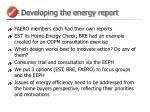 developing the energy report