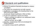 standards and qualifications
