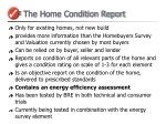 the home condition report
