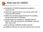 what next for faero