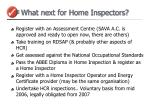 what next for home inspectors