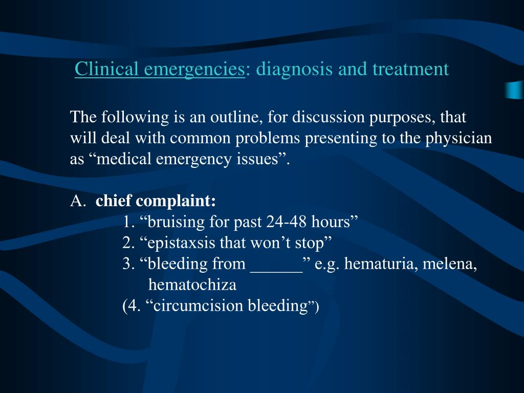 Clinical emergencies