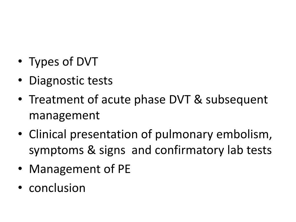 Types of DVT