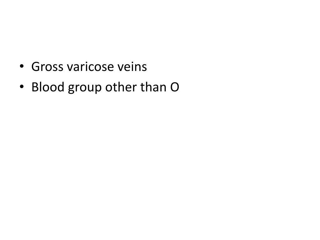 Gross varicose veins