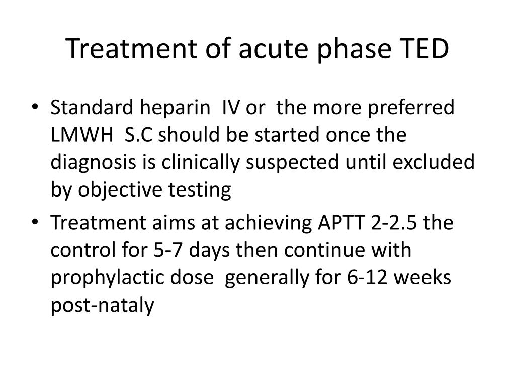 Treatment of acute phase TED