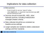 implications for data collection
