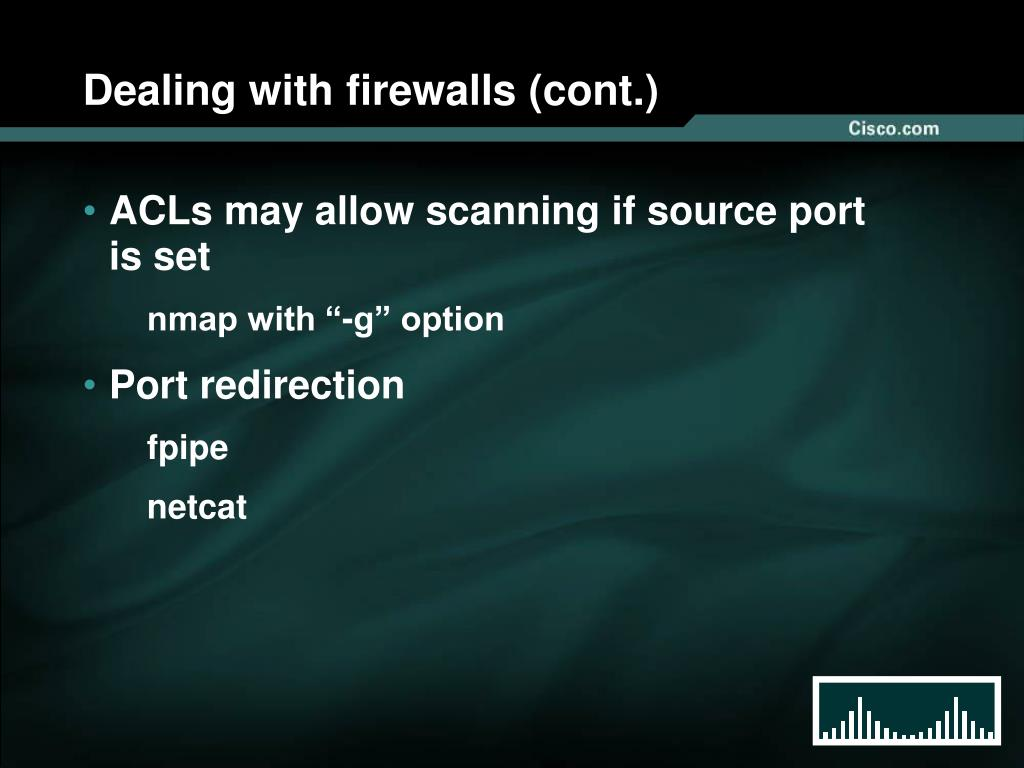Dealing with firewalls (cont.)