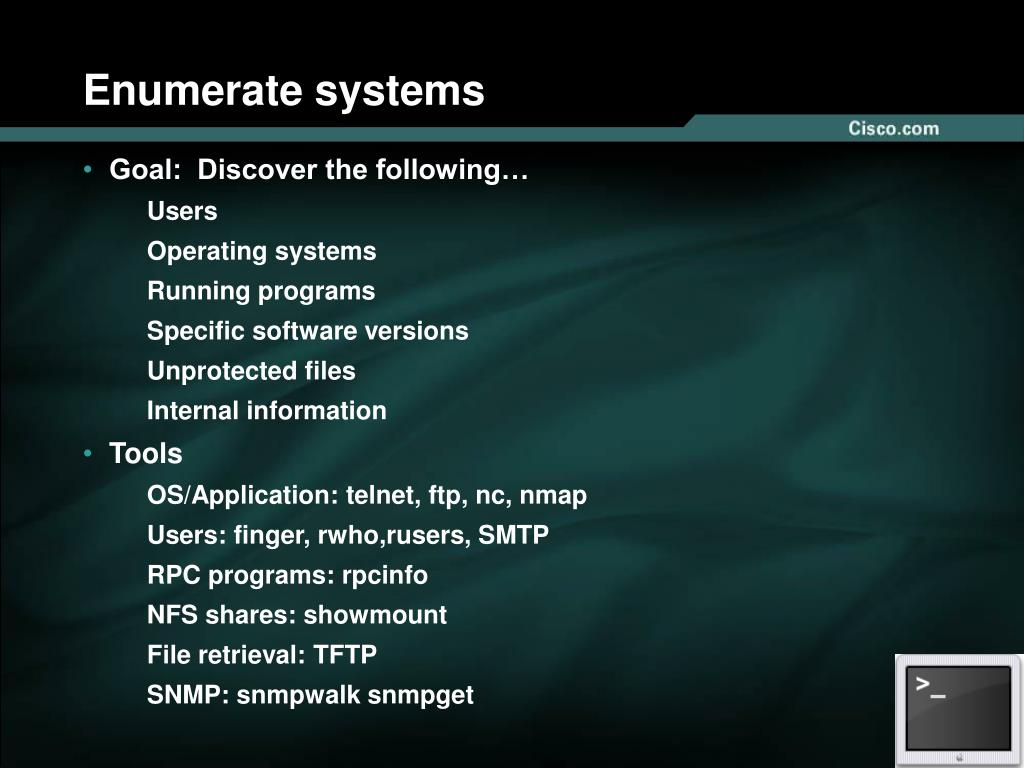 Enumerate systems