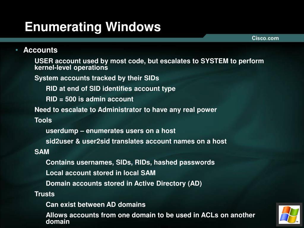 Enumerating Windows