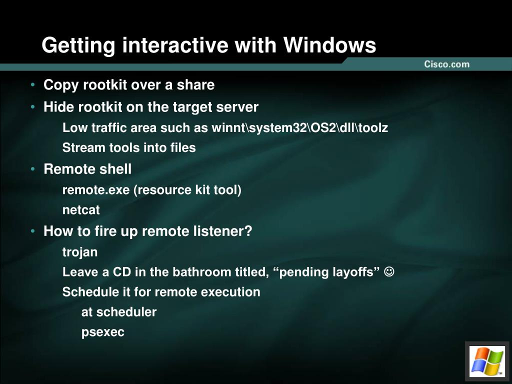 Getting interactive with Windows