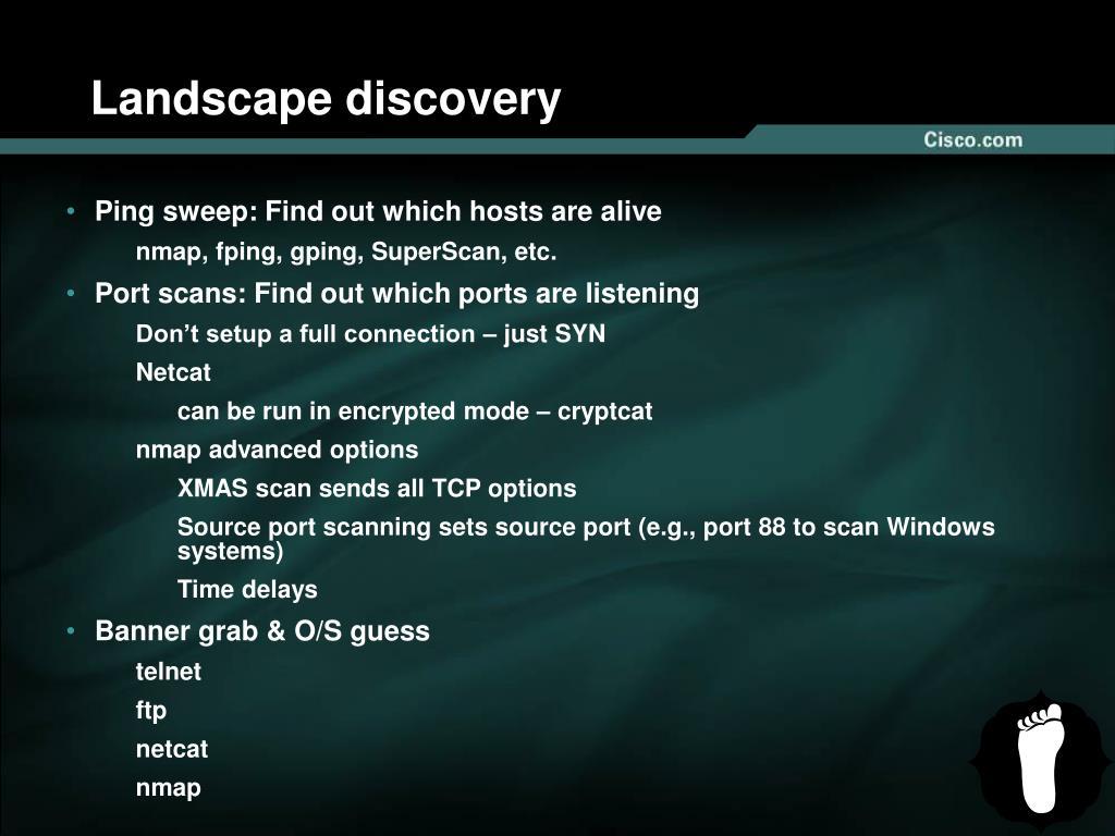 Landscape discovery