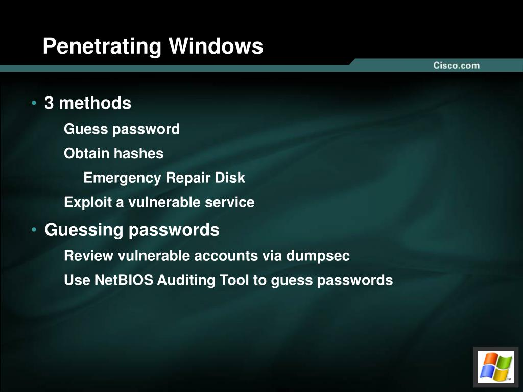 Penetrating Windows