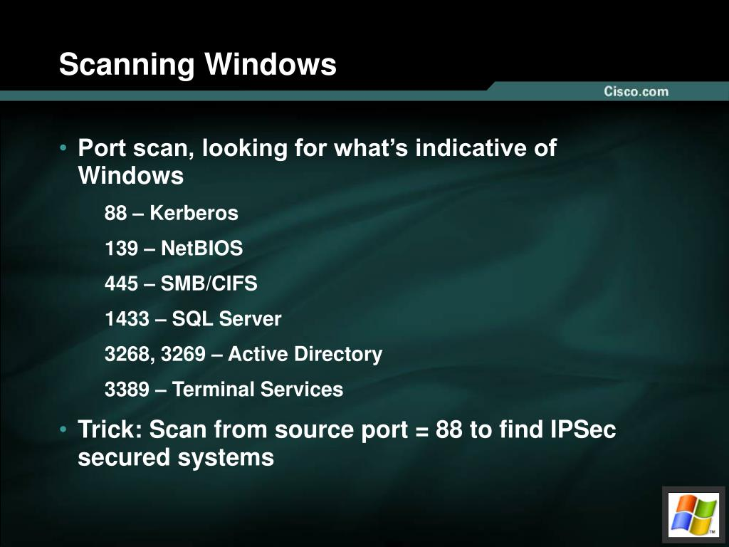 Scanning Windows