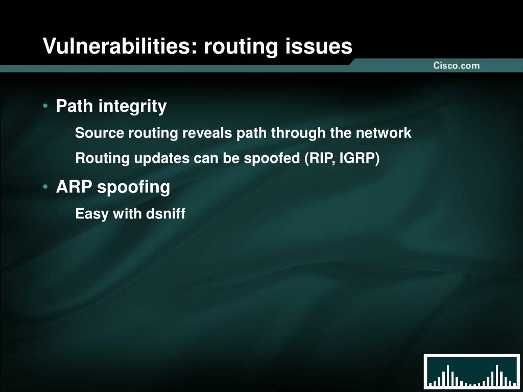 Vulnerabilities: routing issues