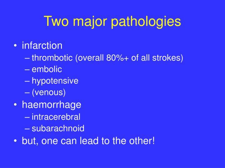 Two major pathologies