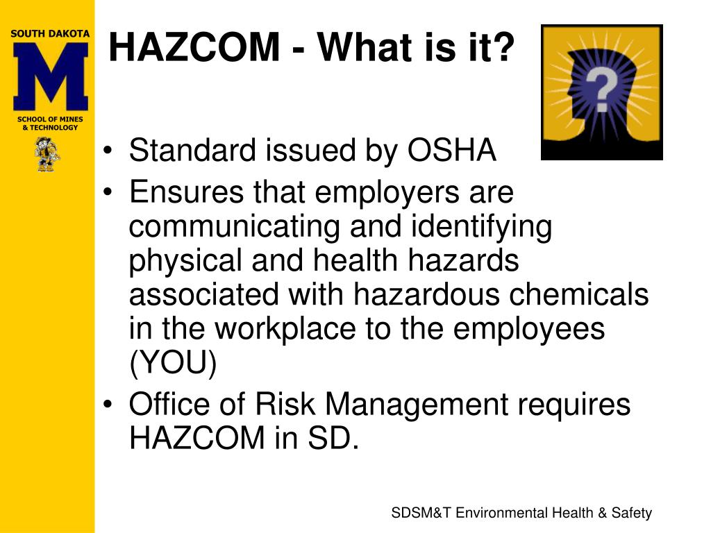 HAZCOM - What is it?