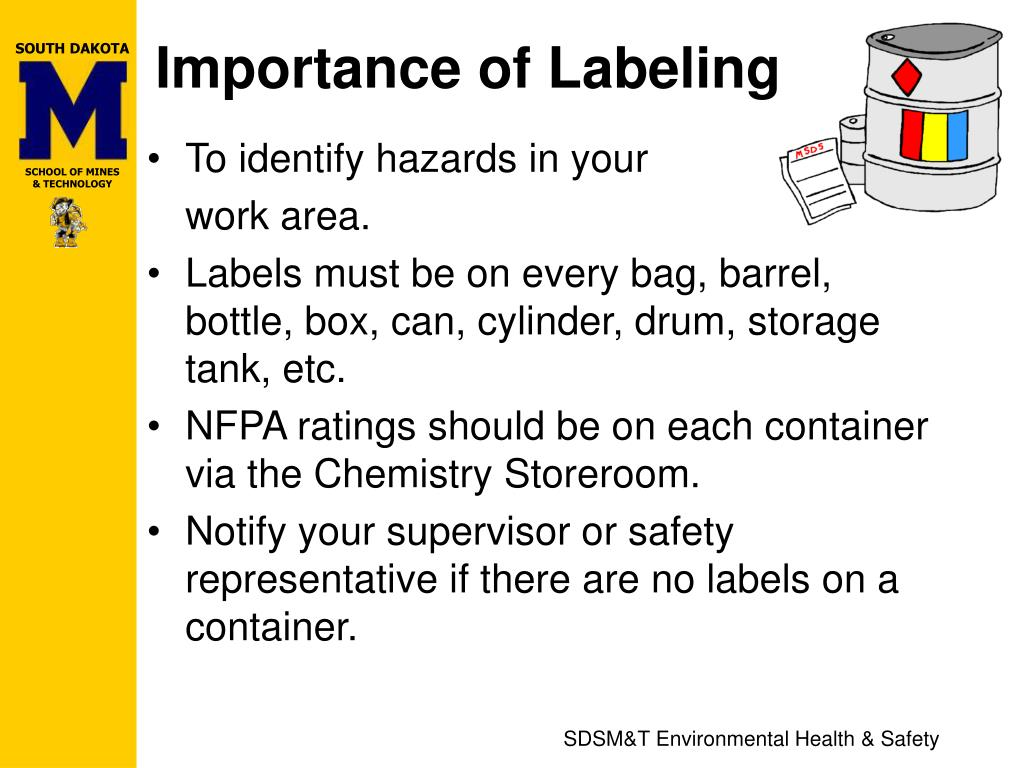 Importance of Labeling