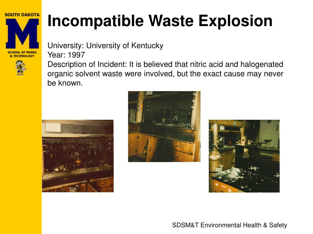 Incompatible Waste Explosion