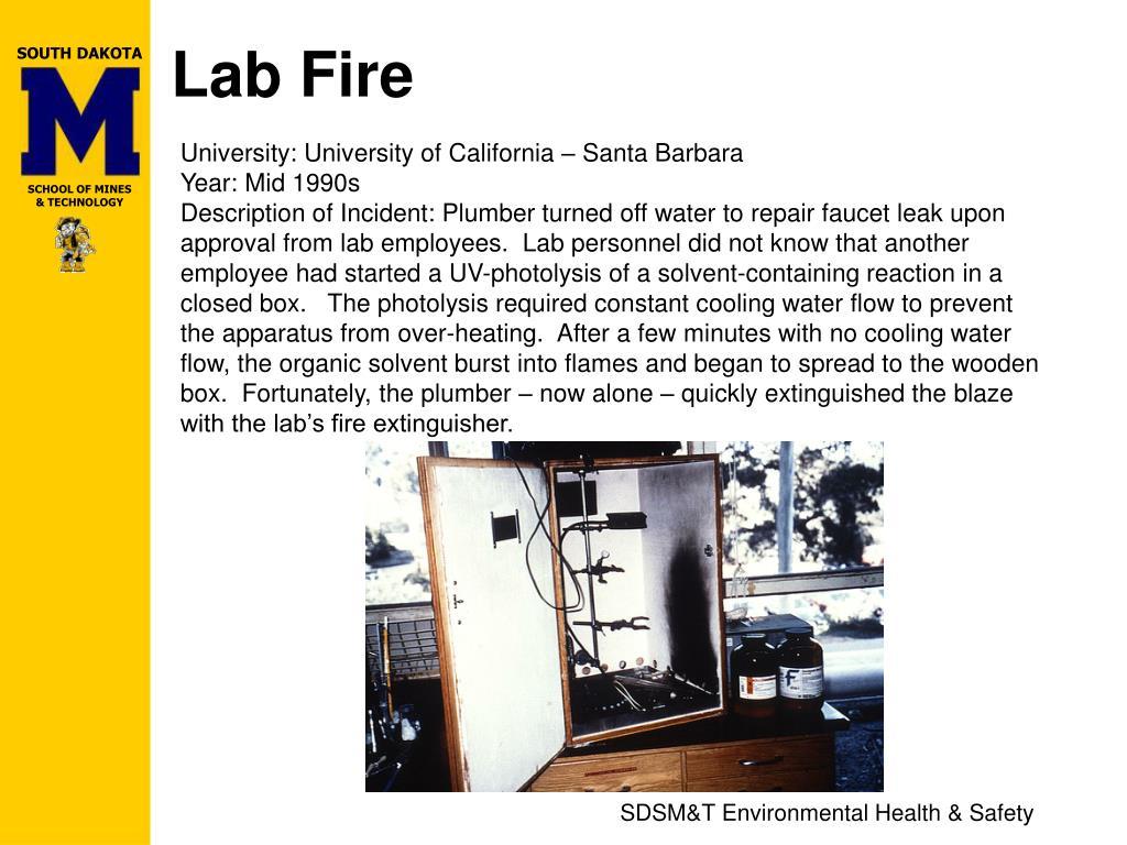 Lab Fire