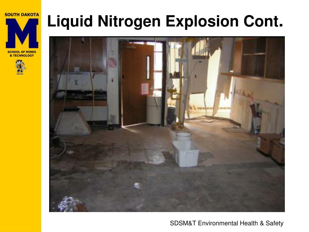 Liquid Nitrogen Explosion Cont