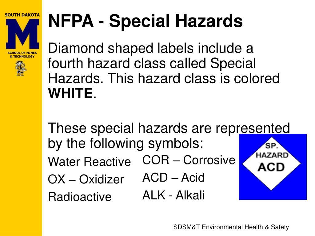 NFPA - Special Hazards