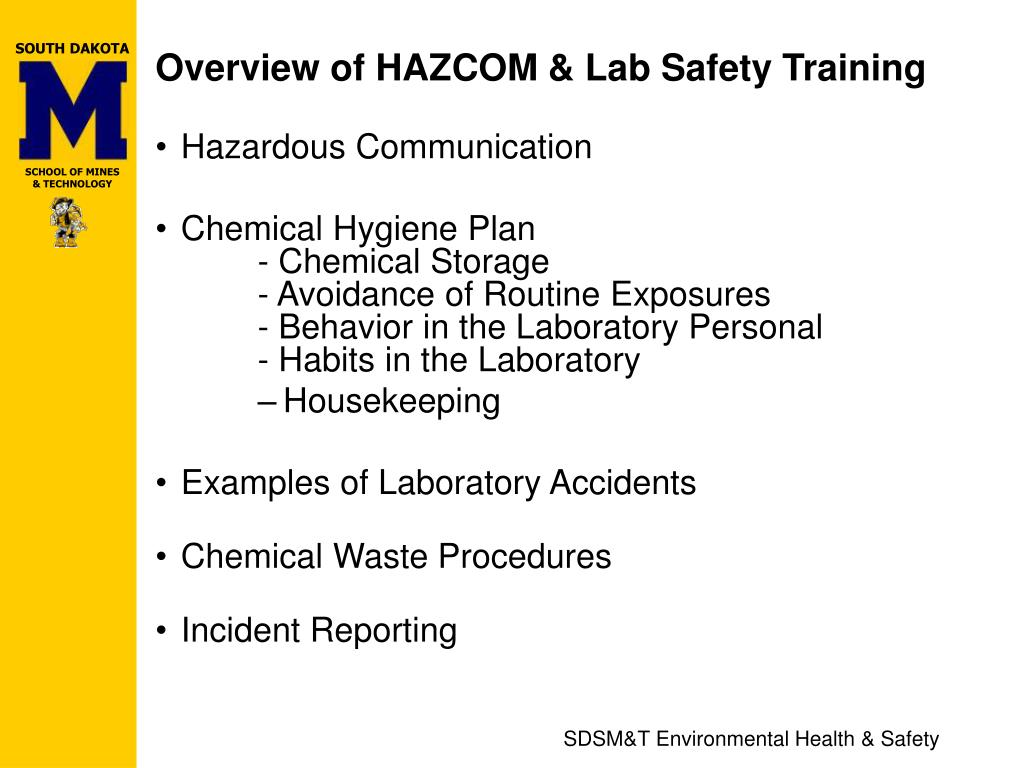 Overview of HAZCOM & Lab Safety Training