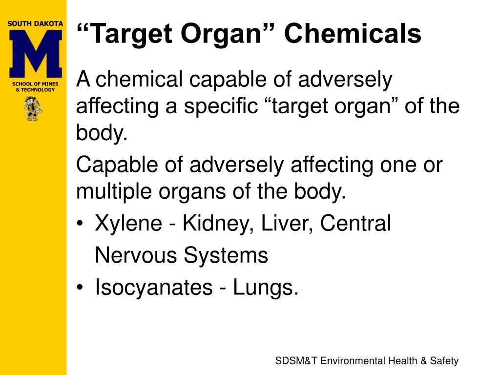 """""""Target Organ"""" Chemicals"""