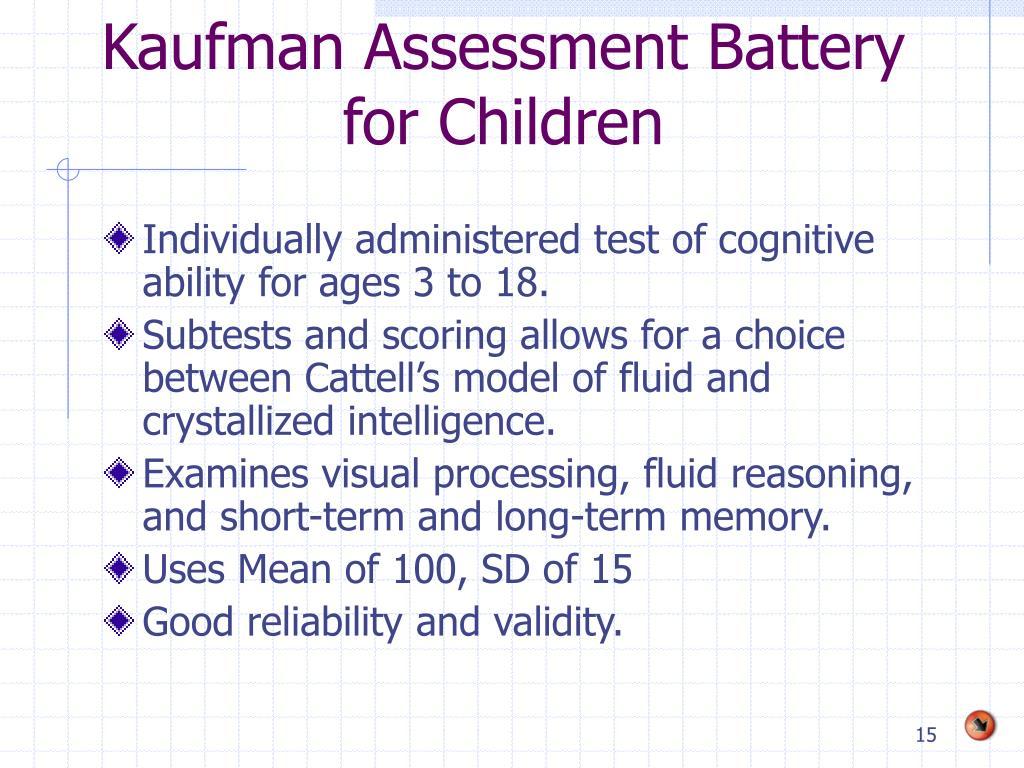 Kaufman Assessment Battery for Children