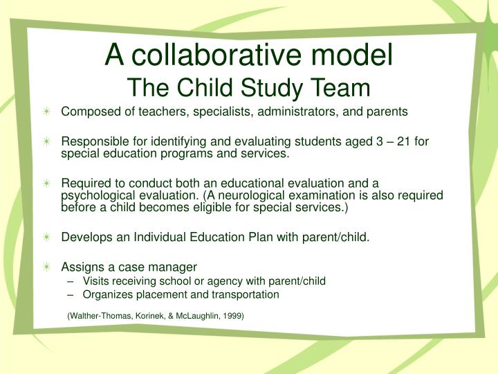 A collaborative model