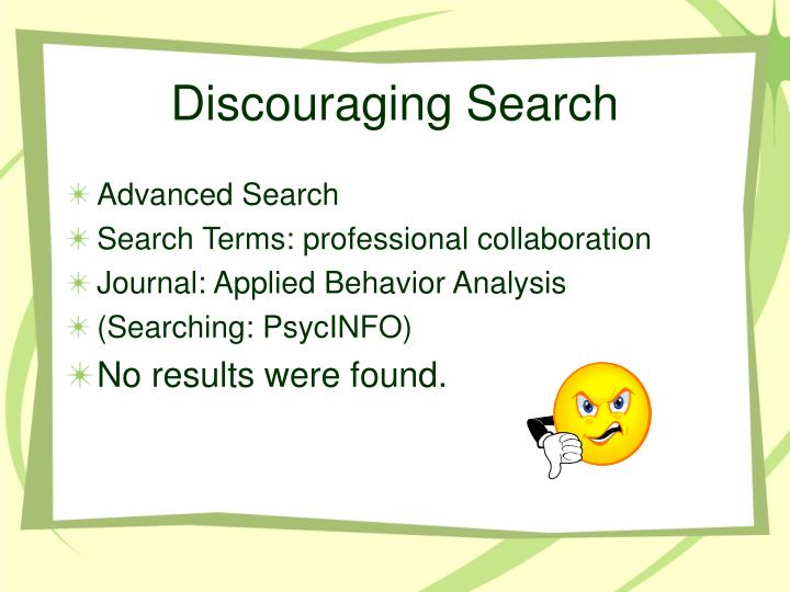 Discouraging search