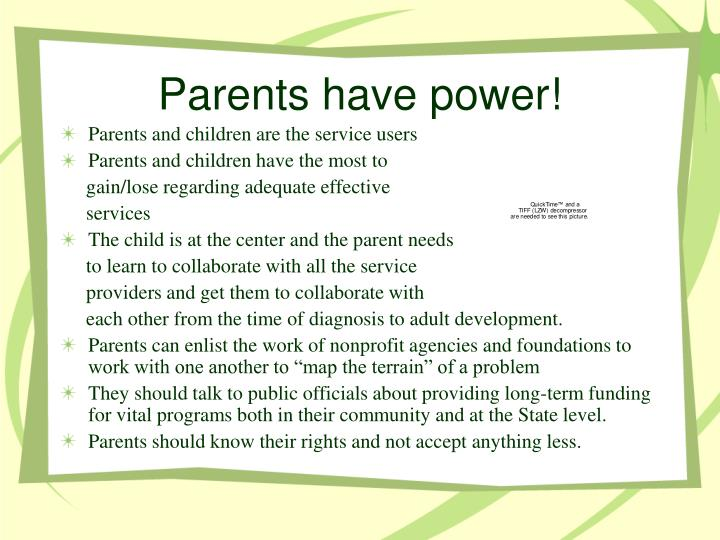 Parents have power!