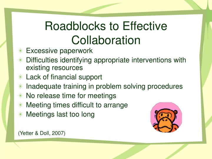Roadblocks to Effective Collaboration
