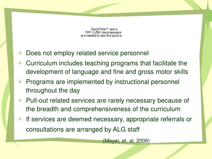 Does not employ related service personnel