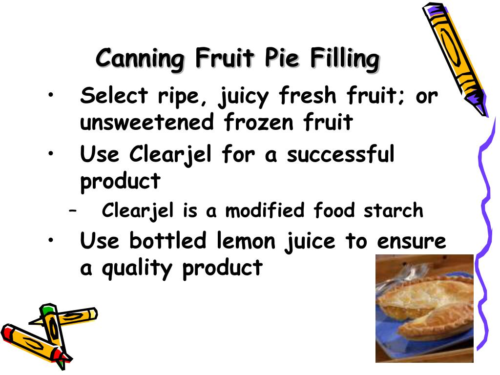 Canning Fruit Pie Filling