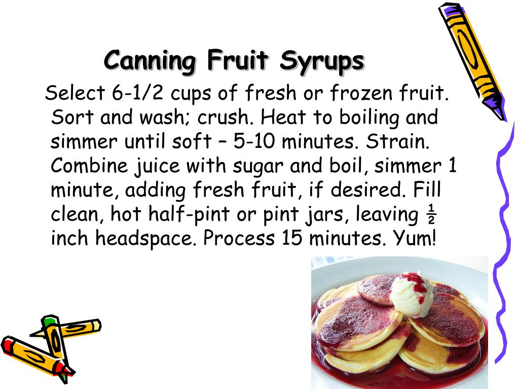 Canning Fruit Syrups
