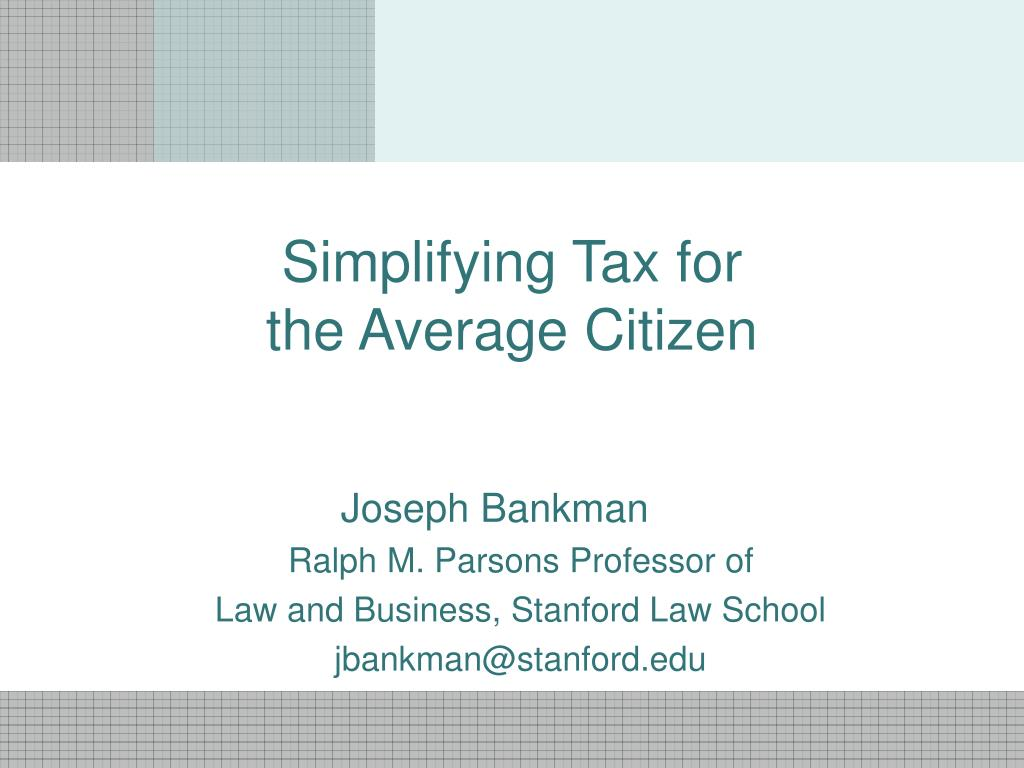 Simplifying Tax for
