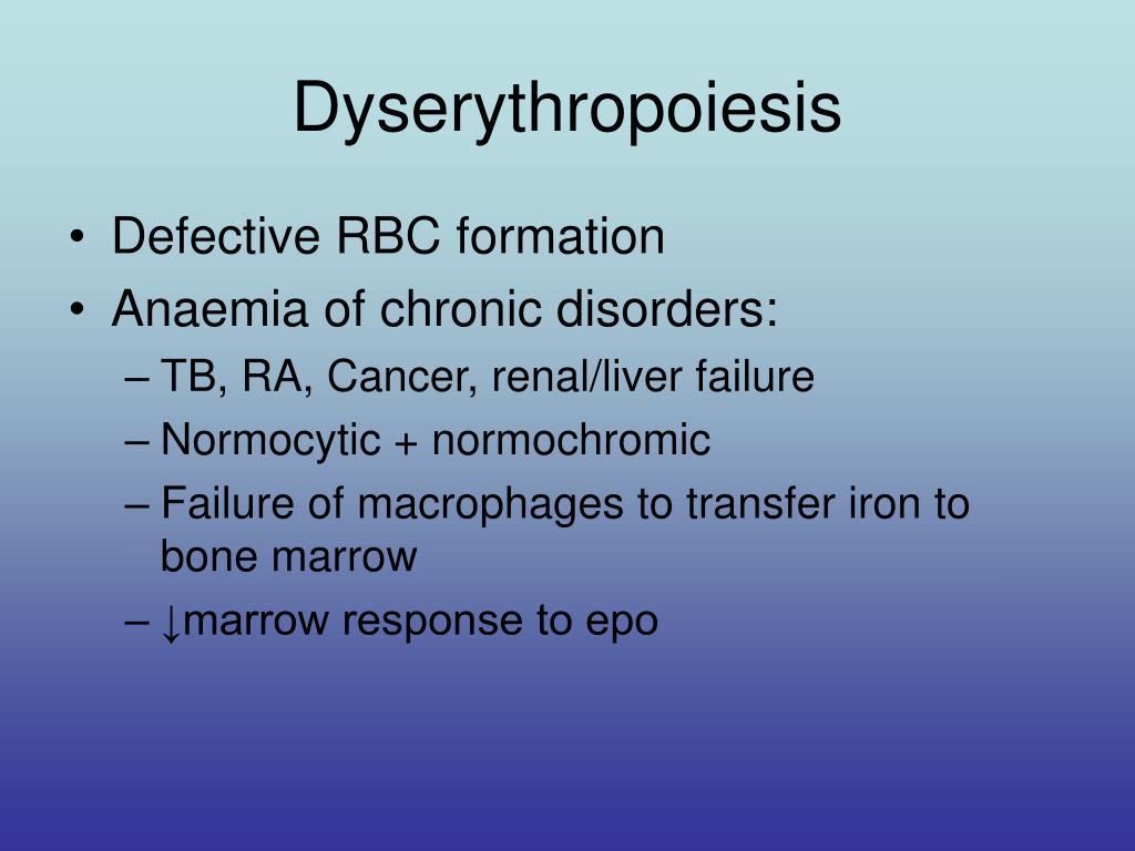 Dyserythropoiesis