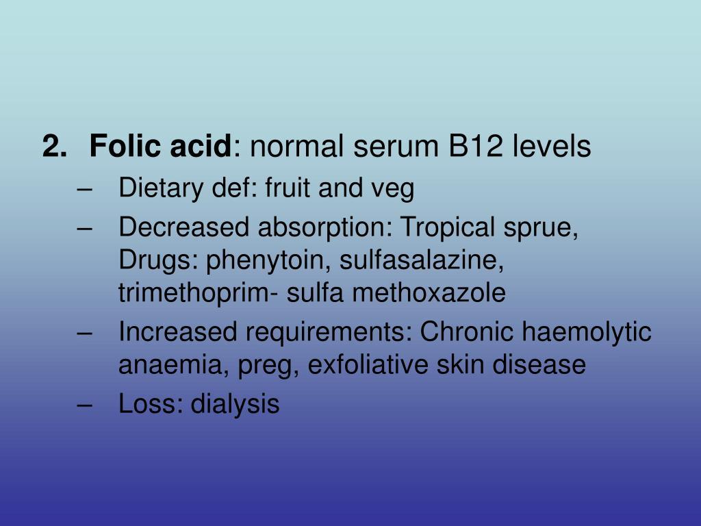 2. Folic acid